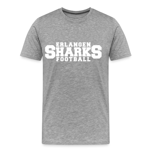 Old School Football Premium T-Shirt (m, grau/weiß/navy) - Männer Premium T-Shirt