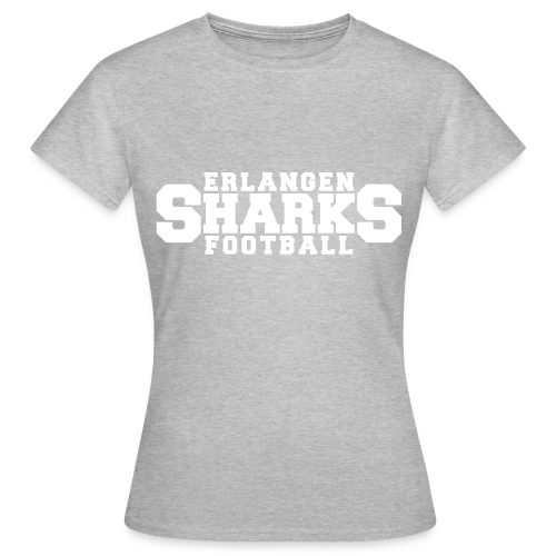Old School Football T-Shirt (w, grau/weiß/navy) - Frauen T-Shirt