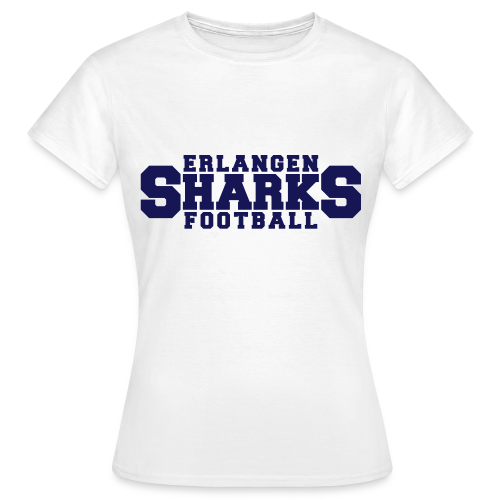 Old School Football T-Shirt (w, weiß/navy/rot) - Frauen T-Shirt