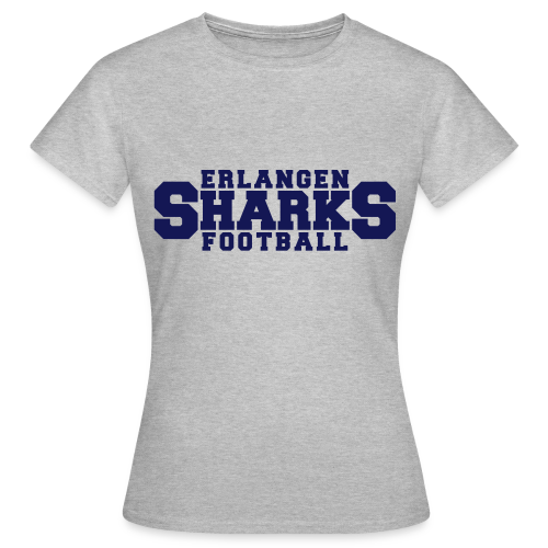 Old School Football T-Shirt (w, grau/navy/rot) - Frauen T-Shirt