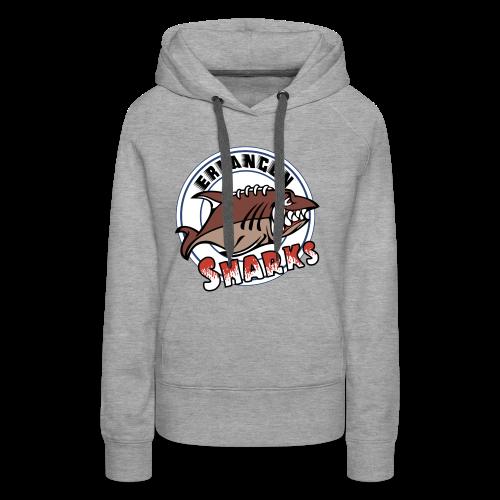 Erlangen Sharks Color Hoodie (w, grau) - Frauen Premium Hoodie