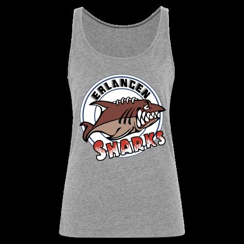 Erlangen Sharks Color Tank-Top (w, grau) - Frauen Premium Tank Top