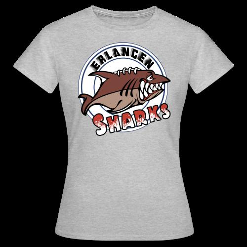 Erlangen Sharks Color T-Shirt (w, grau) - Frauen T-Shirt