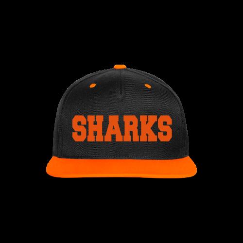 Snapback Cap Sharks (schwarz/orange) - Kontrast Snapback Cap