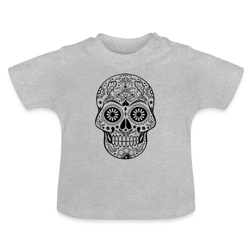 Gothic Ornaments Sugar Skull - black - Baby T-Shirt