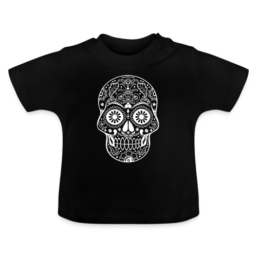 Gothic Ornaments Sugar Skull - weiss - Baby T-Shirt