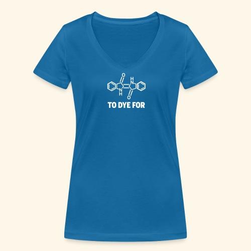 Indigo Molecule - Shirt - Frauen Bio-T-Shirt mit V-Ausschnitt von Stanley & Stella