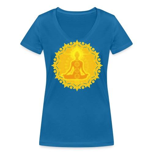 Yoga Lotus Meditation Chakren III - Frauen Bio-T-Shirt mit V-Ausschnitt von Stanley & Stella