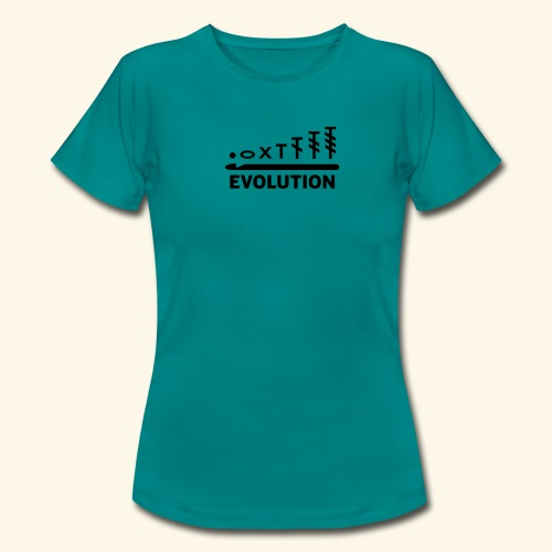 Häkelschrift Evolution Tee - Frauen T-Shirt