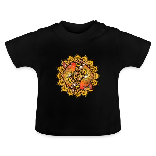 Asian Pond Carp - Koi Fish Mandala 2 - Baby T-Shirt