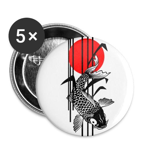 Bamboo Design - Nishikigoi - Koi Fish 1 - Buttons groß 56 mm (5er Pack)