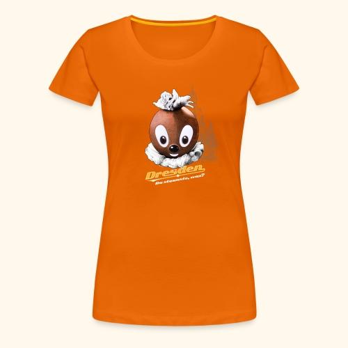 Frauen Premium T-Shirt Pittiplatsch Dresden dk - Frauen Premium T-Shirt