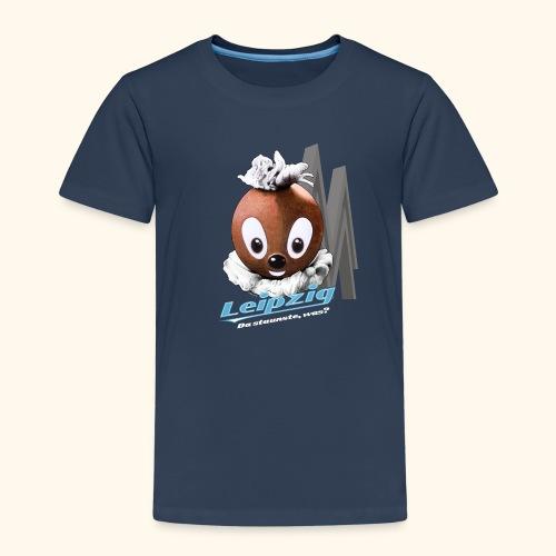 Kinder Premium T-Shirt Pittiplatsch Leipzig dk - Kinder Premium T-Shirt