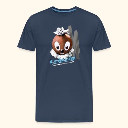 Männer Premium T-Shirt Pittiplatsch Leipzig dk - Männer Premium T-Shirt
