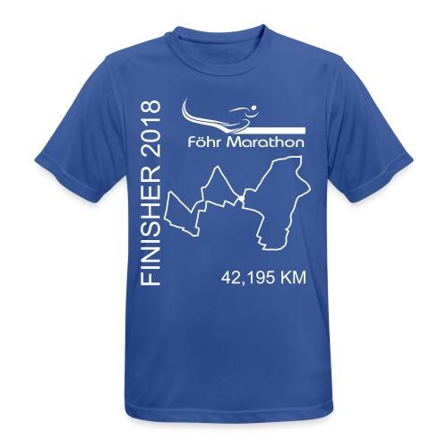 2018 Ziel M Marathon weiß - Männer T-Shirt atmungsaktiv