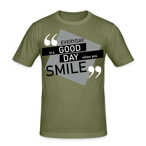 Smile - men - Männer Slim Fit T-Shirt