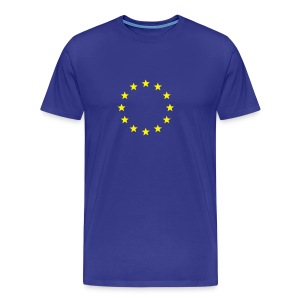 Euro flag colour Male - Men's Premium T-Shirt