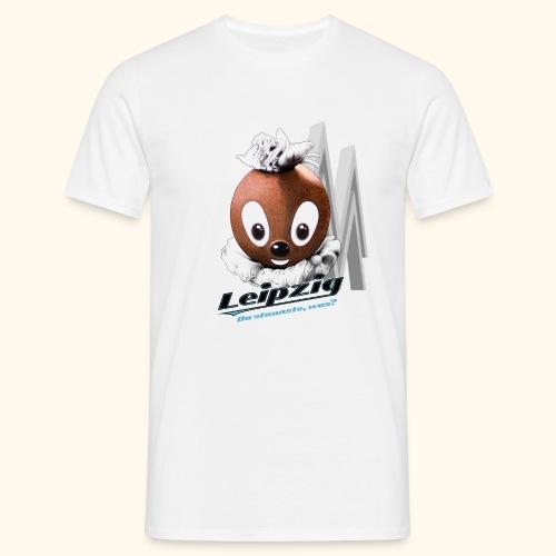 Männer T-Shirt (Übergröße) Pittiplatsch Leipzig hell - Männer T-Shirt