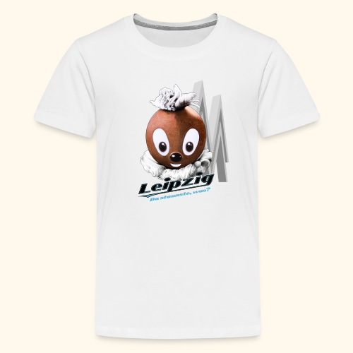 Teenager Premium T-Shirt  Pittiplatsch Leipzig hell - Teenager Premium T-Shirt