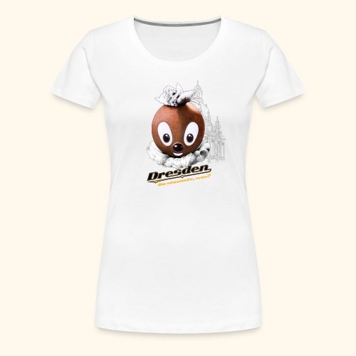 Frauen Premium T-Shirt Pittiplatsch Dresden hell - Frauen Premium T-Shirt