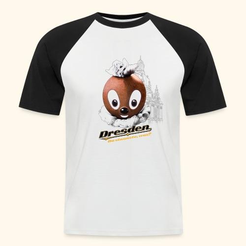 Männer Baseball-T-Shirt Pittiplatsch Dresden hell - Männer Baseball-T-Shirt