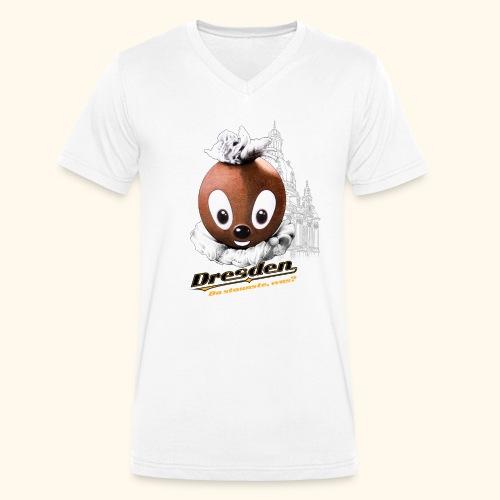 Männer Bio-T-Shirt Pittiplatsch Dresden hell - Männer Bio-T-Shirt mit V-Ausschnitt von Stanley & Stella