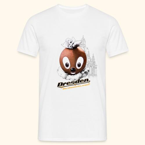 Männer T-Shirt (Übergröße) Pittiplatsch Dresden hell - Männer T-Shirt