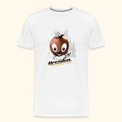 Männer Premium T-Shirt Pittiplatsch Dresden hell - Männer Premium T-Shirt