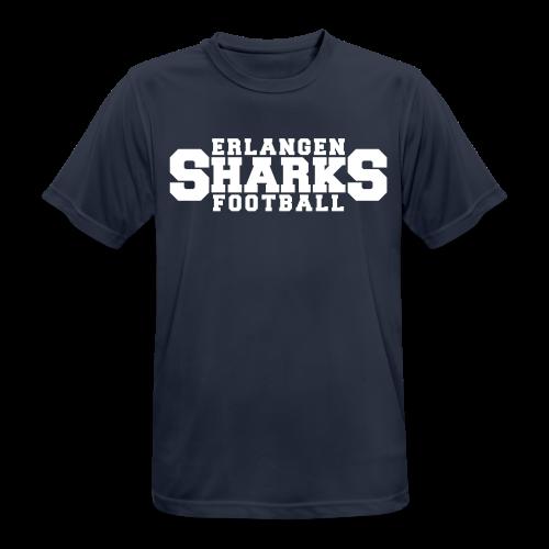 Funktionsshirt (m, navy/weiß) - Männer T-Shirt atmungsaktiv