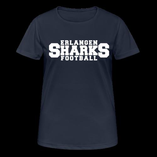 Funktionsshirt (w, navy/weiß) - Frauen T-Shirt atmungsaktiv
