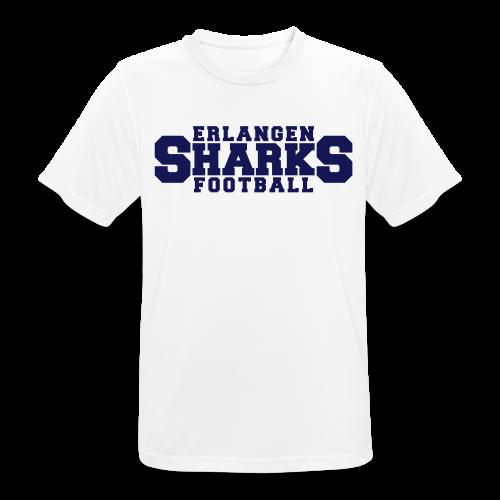 Funktionsshirt (m, weiß/navy) - Männer T-Shirt atmungsaktiv