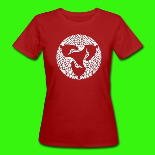 Drei Kraniche - Frauen Bio-T-Shirt