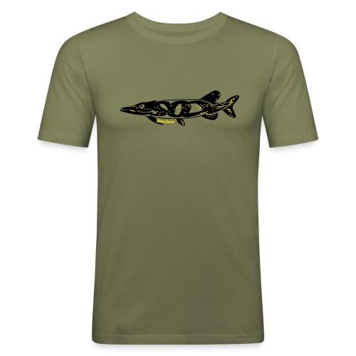 Hechtfänger - Angelshirt für Raubfischfans - Esox Lucius - Männer Slim Fit T-Shirt