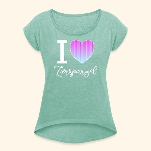 Lustiges Zierspargel Asparagus T-Shirt / Hoodie - Frauen T-Shirt mit gerollten Ärmeln