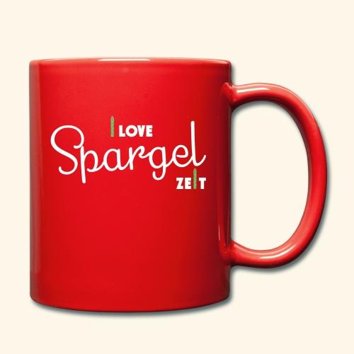 I Love Spargel Zeit - Frühling, Garten, April, Mai, Juni - Tasse einfarbig