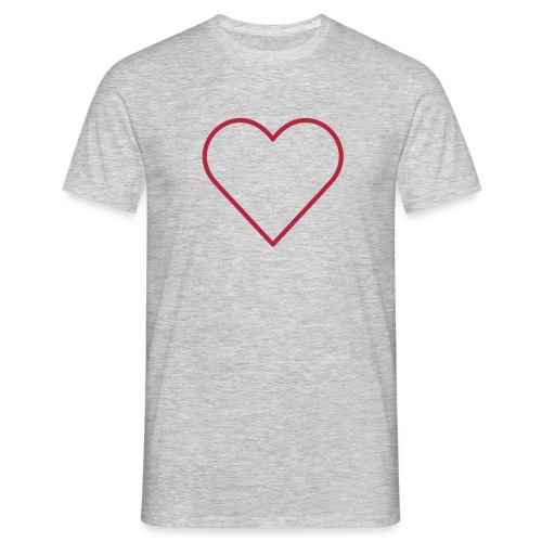 T-Shirt mit Herz - Männer T-Shirt