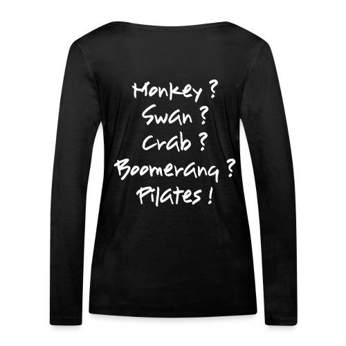 pilates-powers Damen Langarm-T-Shirt scharz - Frauen Bio-Langarmshirt von Stanley & Stella