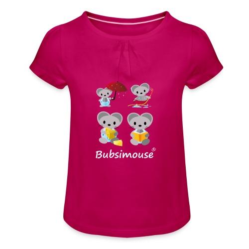 Bubsimaus Shirt für Mädchen - Mädchen-T-Shirt mit Raffungen