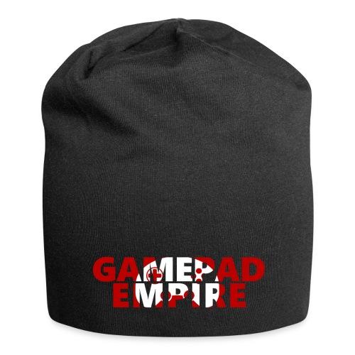 Mütze mit Schriftzug und Logo - Jersey-Beanie