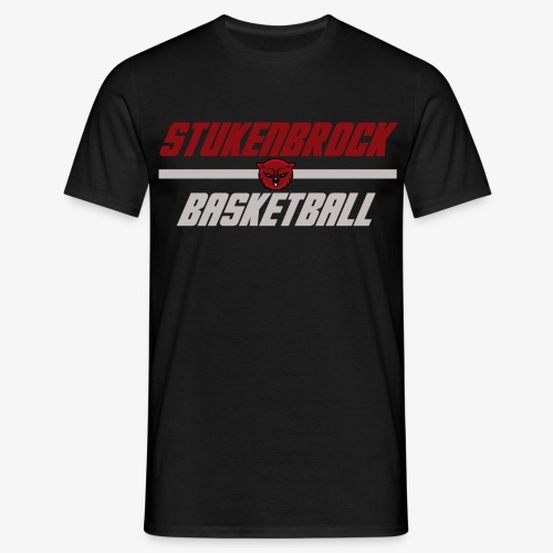 Stukenbrock Basketball black - Männer T-Shirt