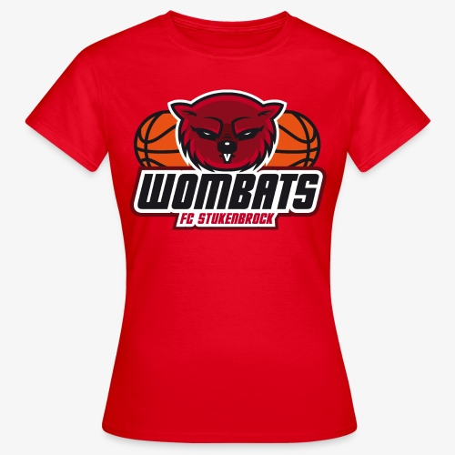 Wombats Girls red - Frauen T-Shirt