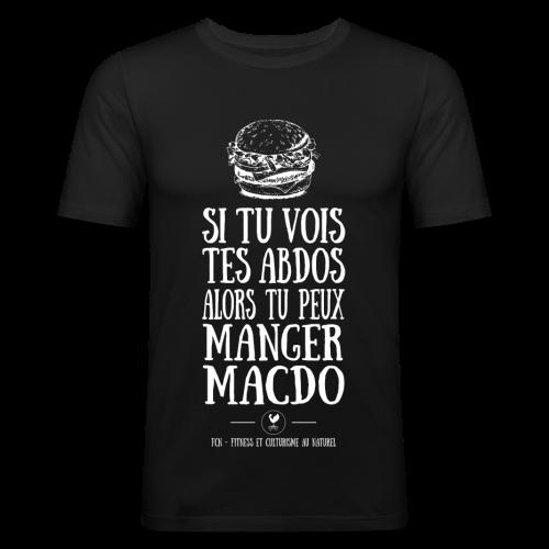 Pas d'Abdos Pas de Macdo - T-shirt près du corps Homme