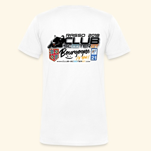 RASSO CSGT 2018 COL V DOS HOMME - T-shirt bio col V Stanley & Stella Homme