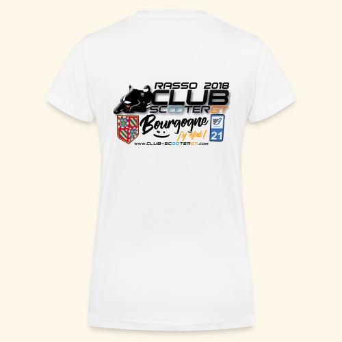 RASSO CSGT 2018 COL V DOS FEMME - T-shirt bio col V Stanley & Stella Femme