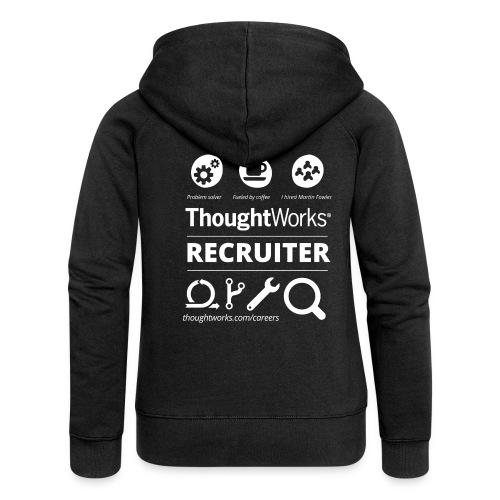 Women´s Zip Hoodie Recruiter - Frauen Premium Kapuzenjacke