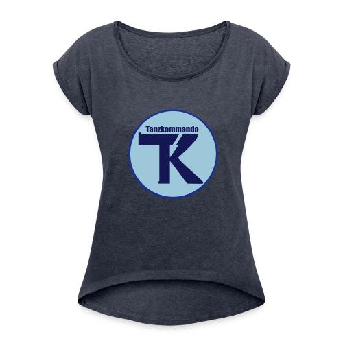 T-Shirt - Logo vorne - Frauen T-Shirt mit gerollten Ärmeln