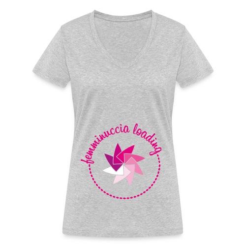 Femminuccia loading - T-shirt ecologica da donna con scollo a V di Stanley & Stella