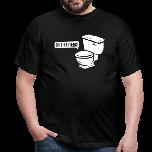 T-shirt, Shit happens! - T-shirt herr