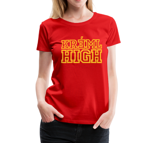 T-shirt dam Premium, KREML HIGH - Premium-T-shirt dam