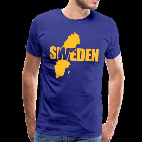 T-shirt Premium, SWEDEN map - Premium-T-shirt herr